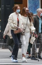 BROOKE SHIELDS Out Shopping for Jewelry in New York 04/22/2021