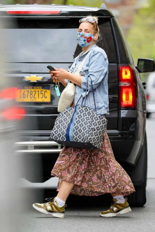 BUSY PHILLIPS Out in New York 04/14/2021