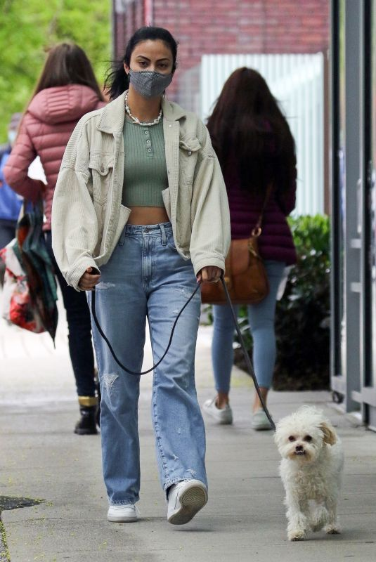 CAMILA MENDES Out with Her Dog in Vancouver 04/24/2021