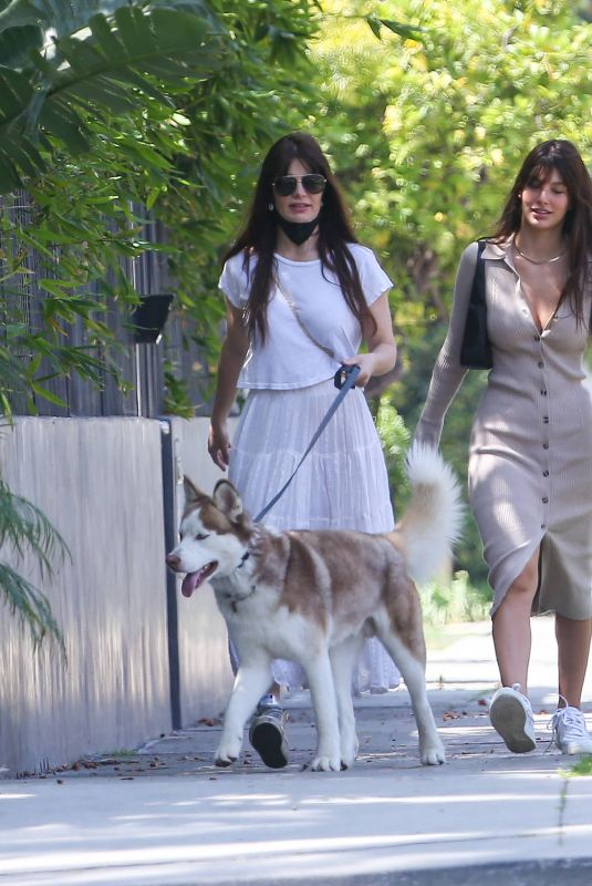 CAMILA MORRONE and LUCILA SOLA Out with Their Dogs in Los Angeles 04/17/2021
