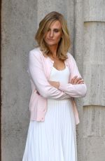 CAMILLE COTTIN on the Set of The House of Gucci in Rome 04/16/2021