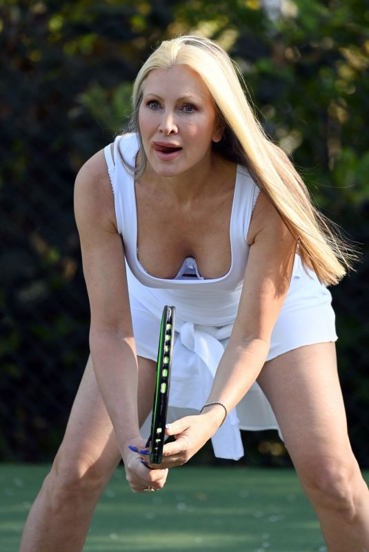 CAPRICE BOURRET at a Tennis Court in London 04/23/2021