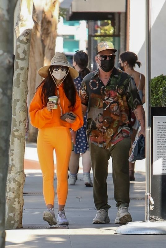 CARA SANTANA and Shannon Leto Out for Coffee in West Hollywood 04/02/2021