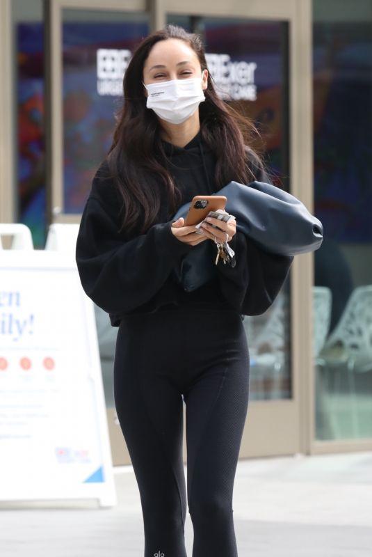 CARA SANTANA Getting a COVID Test in Los Angeles 04/12/2021