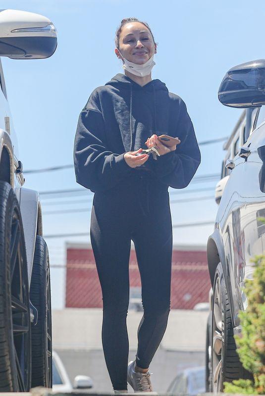 CARA SANTANA leaves a Gym in West Hollywood 04/07/2021