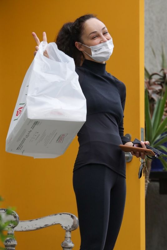 CARA SANTANA Out and About in West Hollywood 04/01/2021