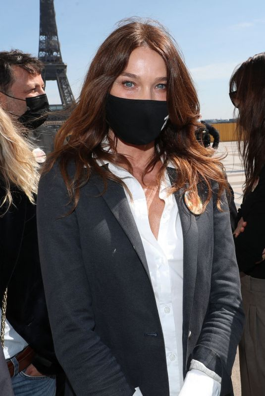 CARLA BRUNI at Demonstration in Support of Family of Sarah Halimi in Paris 04/25/2021
