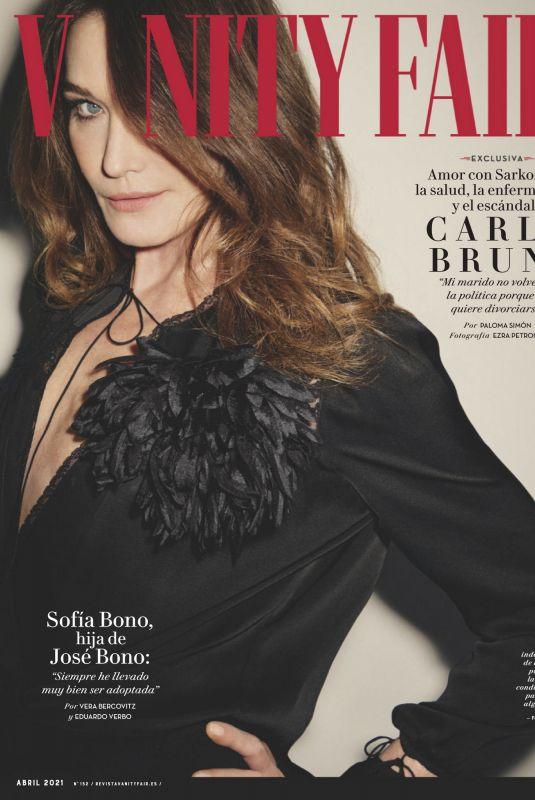 CARLA BRUNI in Vanity Fair Magazine, Spain April 2021