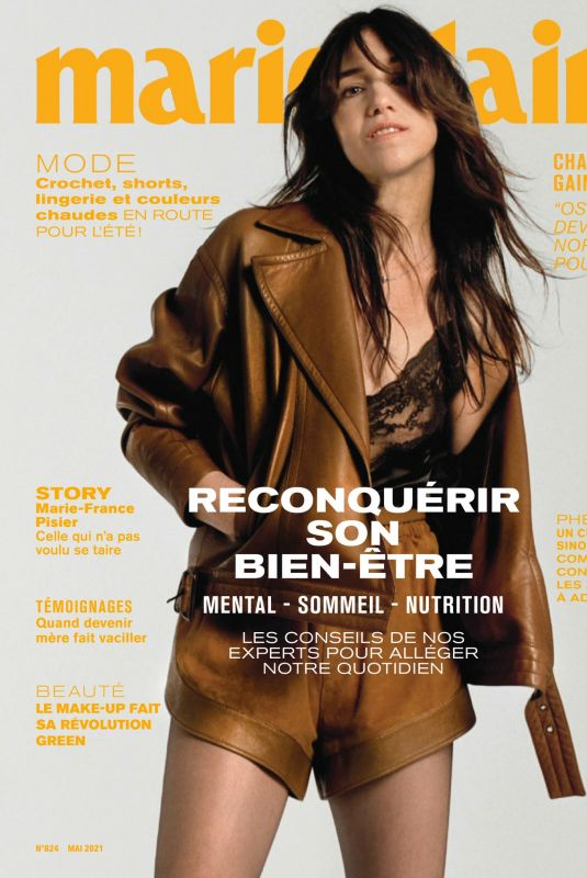 CHARLOTTE GAINSBOURGH in Marie Claire Magazine, France May 2021