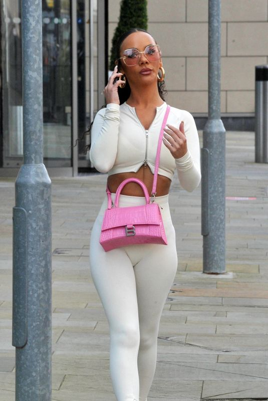 CHELSEE HEALEY Out in Manchester 04/01/2021