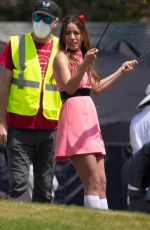 CHLOE BENNET on the Set of Powerpuff Girls in Atlanta 04/06/2021
