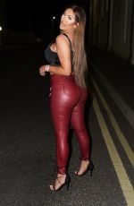 CHLOE FERRY Night Out in Newcastle 04/16/2021