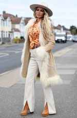 CHLOE SIM on the Set of The Only Way is Essex 04/11/2021