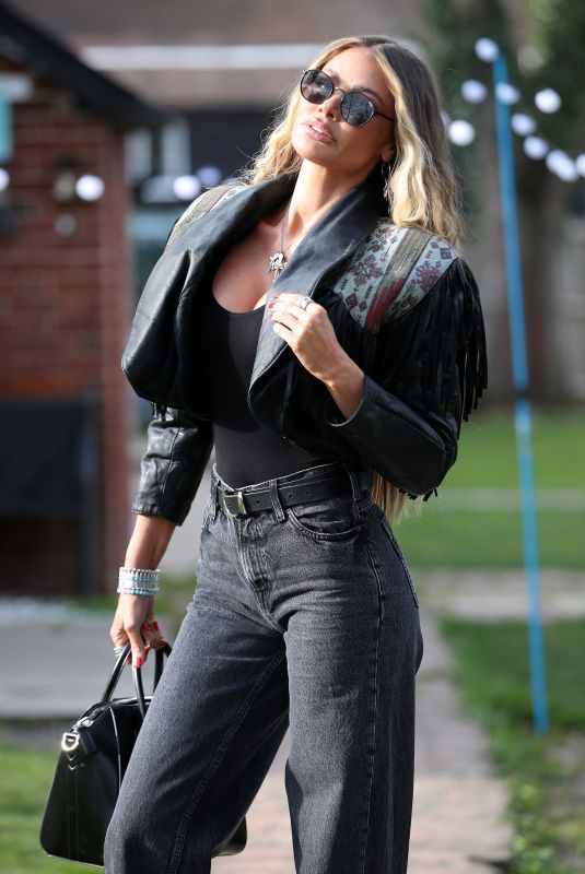 CHLOE SIMS on the Set of The Only Way is Essex 04/08/2021