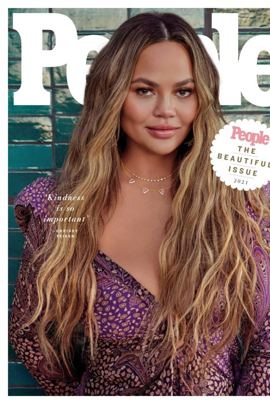 CHRISSY TEIGEN in People Magazine, Beautiful Issue 2021, April 2021