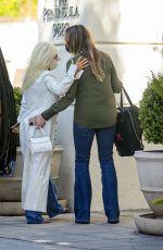 CHRISTINA AGUILERA Arrives at Peninsula Hotel in Beverly Hills 04/19/2021