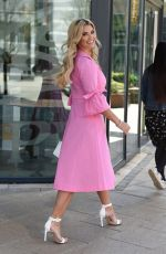 CHRISTINE MCGUINNESS Arrives at Stephs Packed Lunch TV Show in Leeds 04/19/2021