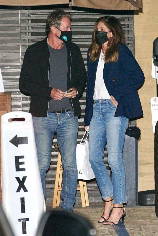 CINDY CRAWFORD and Rande Gerber at Nobu in Malibu 04/11/2021