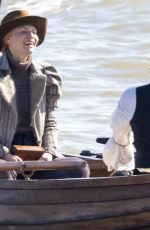 CLAIRE DANES on the Set of The Essex Serpent in London 03/31/2021