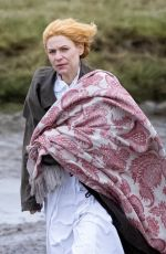 CLAIRE DANES on the Set of The Essex Serpent in London 04/09/2021
