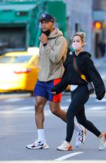 CLARE CRAWLEY and Dale Moss Out for Lunch in New York 04/08/2021