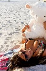 CLAUDIA ROMANI on Easter Sunday at a Beach in Miami 04/04/2021