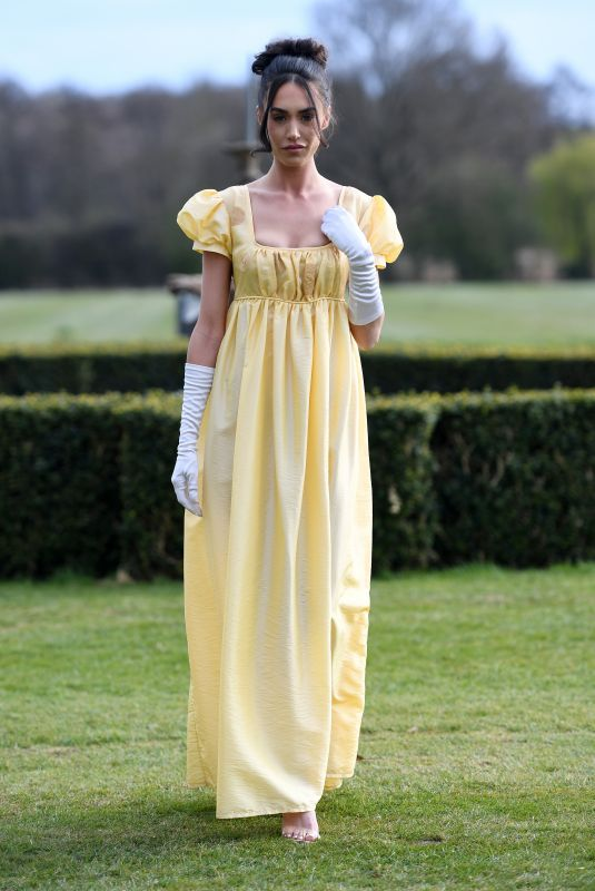 CLELIA THEODOROU on the Set of The Only Way is Essex 04/18/2021