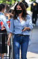 COURTENEY COX in Denim Out in West Hollywood 04/15/2021