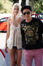 COURTNEY ANNE MICHELL and Corey Feldman Out in Hollywood 04/08/2021