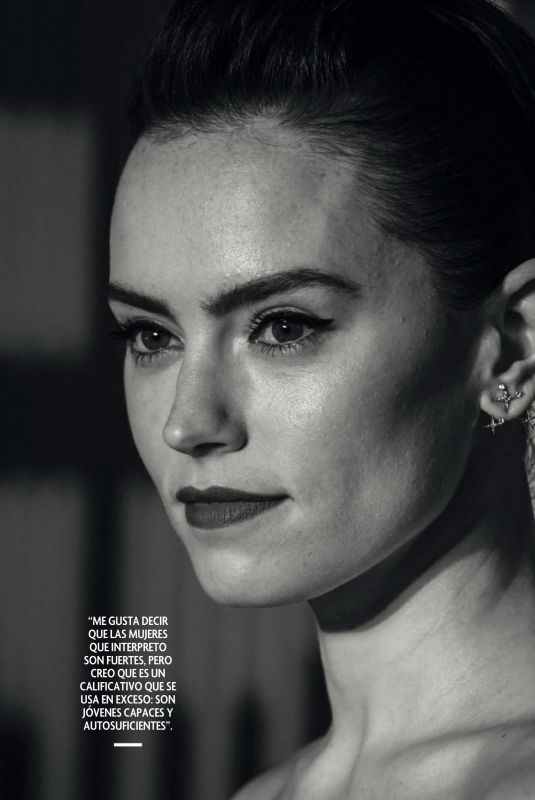 DAISY RIDLEY in Fotogramas Magazine, April 2021