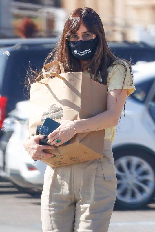 DAKOTA JOHNSON Out Shopping in Malibu 04/19/2021