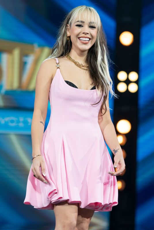 DANNA PAOLA at Top Star Cuanto Vale Tu Voz? Photocall in Madrid 04/29/2021