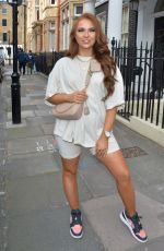 DEMI JONES Heading to a Roof-top Party in London 04/18/2021