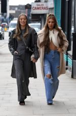 DEMI SIMS and FRANCESCA FARAGO on the Set of The Only Way is Essex 04/06/2021