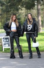 DEMI SIMS and FRANCESCA FARAGO on the Set of The Only Way is Essex 04/11/2021