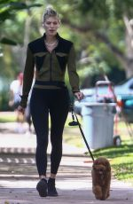DEVON WINDSOR Out with her Dog in Florida 04/06/2021