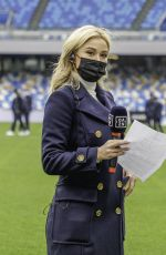 DILETTA LEOTTA at Match Between Napoli and Fiorentina in Naples 01/16/2021