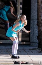 DOVE CAMERON on the Set of Powerpuff Girls in Atlanta 04/12/2021