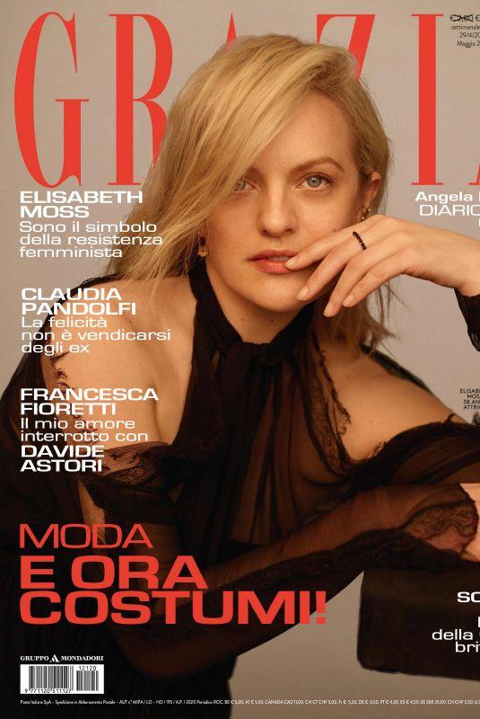 ELISABETH MOSS in Grazia Magazine, Italy April 2021