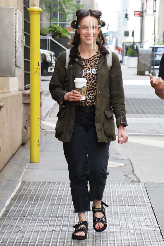 ELIZABETH HENSTRIDGE on the Set of Suspicion in New York 04/28/2021