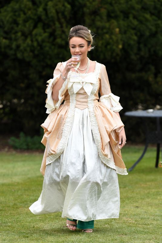ELLA RAE WISE on the Set of The Only Way is Essex 04/18/2021