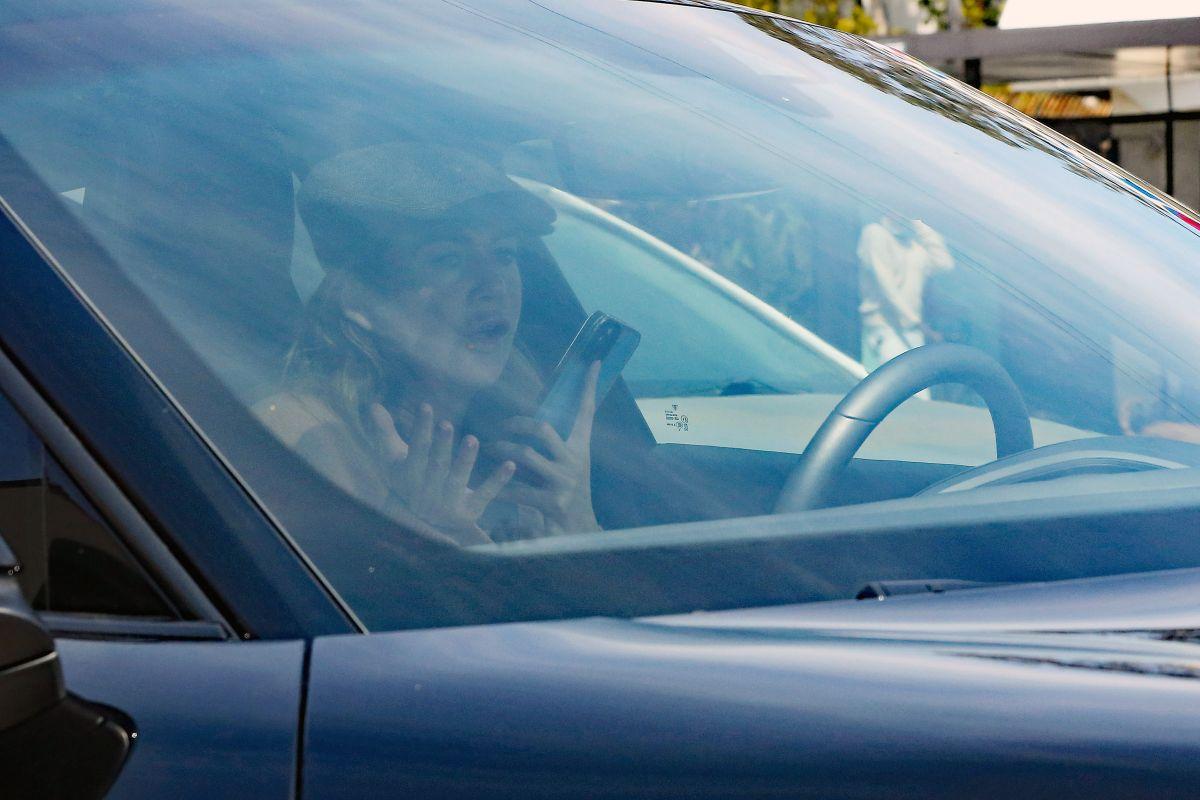 ELLEN POMPEO Out Driving Her Porsche in Los Angeles 04/15 ...