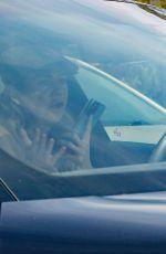 ELLEN POMPEO Out Driving Her Porsche in Los Angeles 04/15/2021