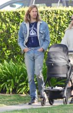 ELSA HOSK and Tom Daly Out with Their Daughter in Los Angeles 04/04/2021