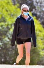 ELSA HOSK Out Hikinig at Griffith Park in Los Angeles 03/28/2021