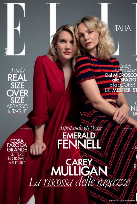 EMERALD FENNELL and CAREY MULIGAN in Elle Magazine, Italy April 2021