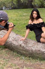 EMERAUDE TOUBIA on the Set of a Photoshoot - Instagram Photos 04/28/2021
