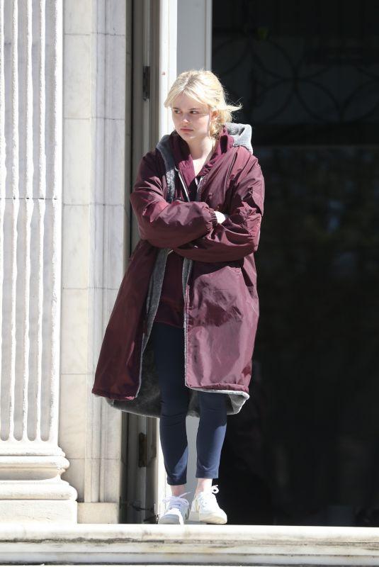 EMILY ALYN LIND on Set of Gossip Girl in New York 04/06/2021