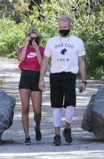 EMMA KROKDAL and Dolph Lundgren Out Hiking in Los Angeles 04/18/2021
