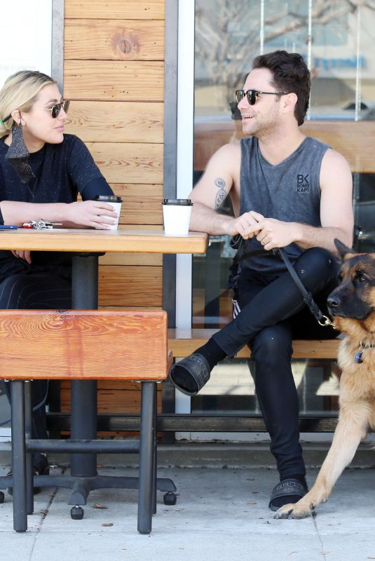EMMA SLATER and Sasha Farber Out with Their Dogs in Los Angeles 04/02/2021